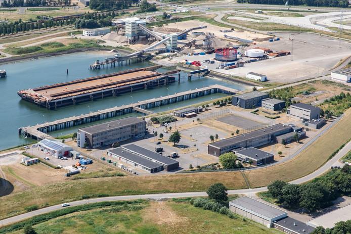 De gesloten marinekazerne in Vlissingen aan de Buitenhaven. De locatie maakt deel uit van het toekomstige kazerneterrein voor het Korps Mariniers.
