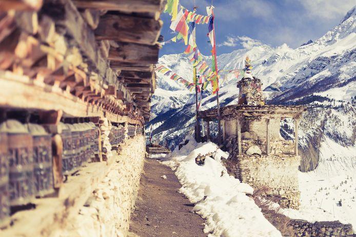 Een gebedshuis in het gebergte van Nepal. Foto ter illustratie.