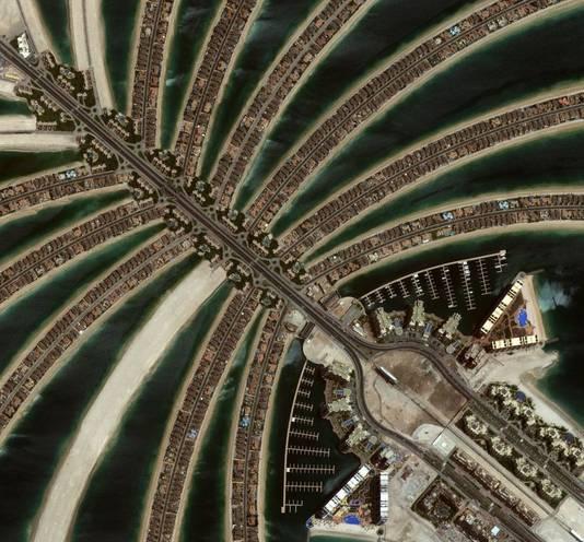 Het Palm-eiland in Dubai. © Digitalglobe