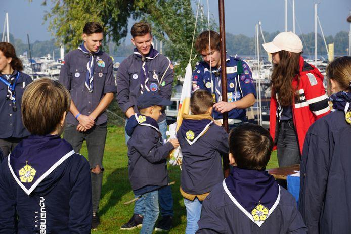 De Dolfijnen, waterscouts op De Zandmeren.
