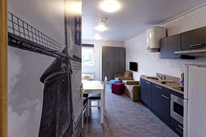 De studio's van LH Waalwijk zijn efficiënt ingericht, met ruimte voor comfort. Bovendien zijn ze onderverdeeld in acht thema's met bijpassende kleur.