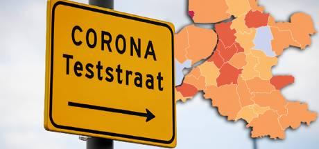 KAART | Aantal nieuwe positieve tests in regio daalt wéér: Urk enige gemeente 'in het rood'