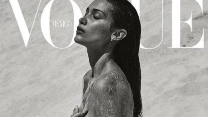 Bella Hadid topless op cover van Vogue