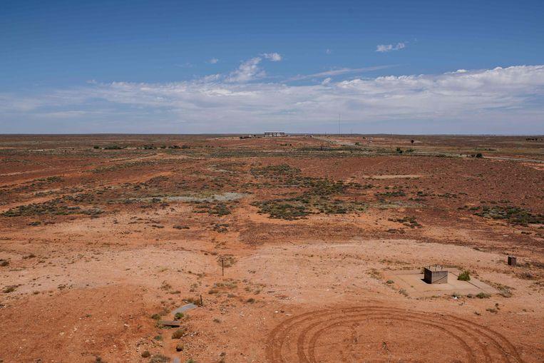 Hier, op de lege vlaktes van het Woomera Range Complex van de Australische luchtmacht, moet het pakketje van Hayabusa 2 zaterdagavond terugkeren op aarde.  Beeld AFP