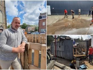 """Brothers of Solidarity steekt zelf handen uit de mouwen in rampgebied Pepinster: """"Hebben we nu echt niets geleerd na vorige rampen?"""""""