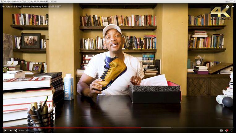 Will Smith scoort tegenwoordig op YouTube met een eigen kanaal. Beeld RV