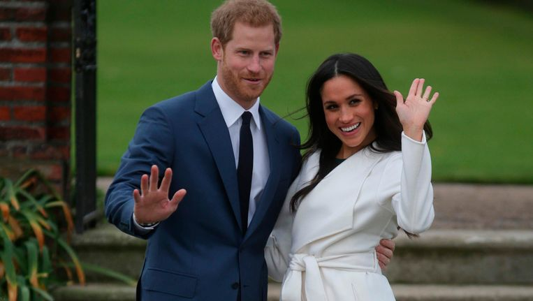 Prins Harry en Meghan Markle. Beeld afp