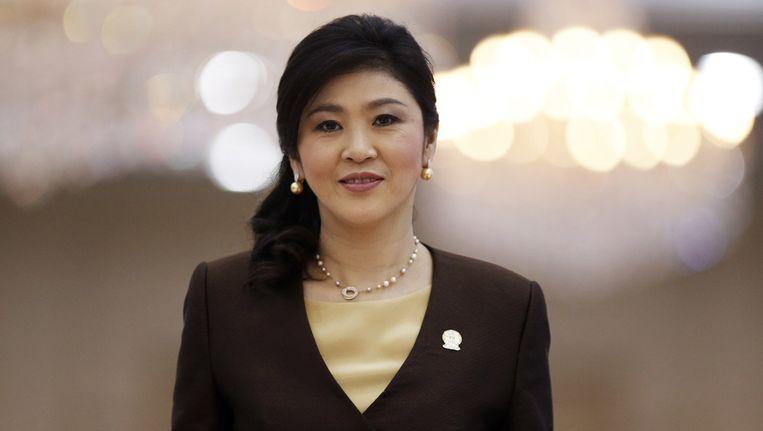 De Thaise premier Yingluck Shinawatra. Beeld reuters
