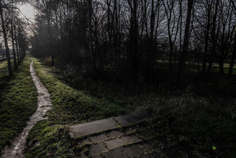 Het gebied nabij de twee oude tankstations (Roze Tanker) in Amsterdam-Noord waar recentelijk meerdere jongeren zijn overvallen. Beeld Joris van Gennip