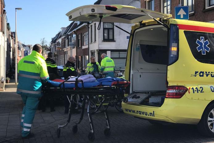 Een ambulance was snel ter plaatse.