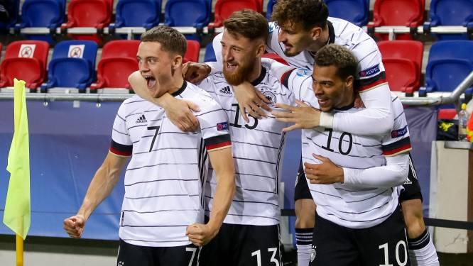 EK U21. Duitsland met Nmecha (RSCA) en Dorsch (AA Gent) klopt Nederland en treft in finale Portugal