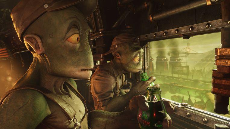 Beeld uit Oddworld Soulstorm, een van de nieuwe games die gamers naar de PlayStation 5 moet lokken. Beeld Oddworld Inhabitants