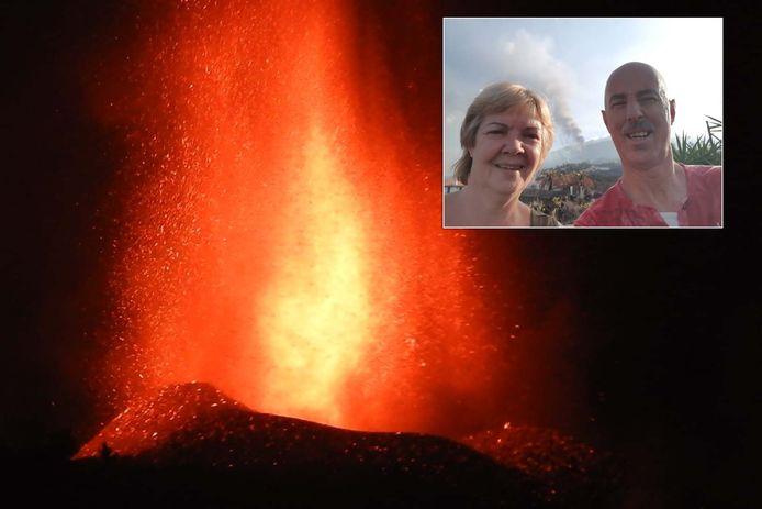 Ronald en Astrid Roelvink uit Deventer  verblijven op La Palma tijdens de uitbarsting van de vulkaan.