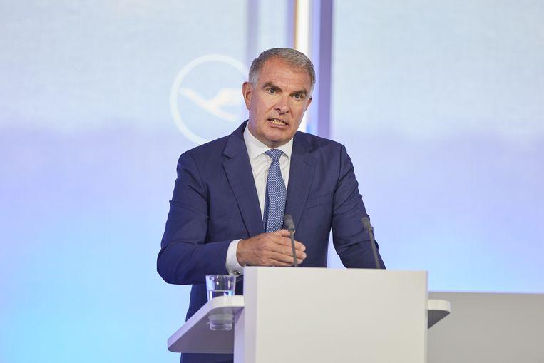 Carsten Spohr is CEO van Lufthansa en zit in de adviesraad van Dr. Oetker. Beeld EPA
