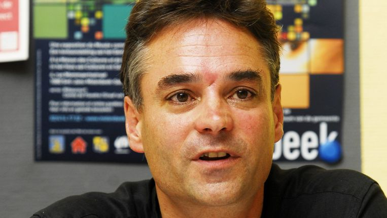 Erik De Bruyn nam het in 2007 op tegen Caroline Gennez voor het sp.a-voorzitterschap. Beeld BELGA