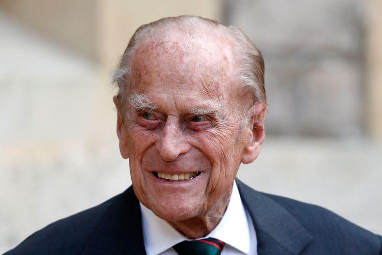 Prins Philip vorig jaar juli.  Beeld AP