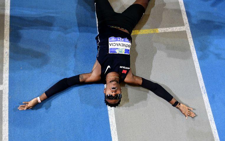 Liemarvin Bonevacia wint de  400m tijdens de Nederlandse kampioenschappen (NK) atletiek.  Beeld ANP