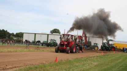 Tractorpullingwedstrijd lokt deelnemers uit alle windstreken