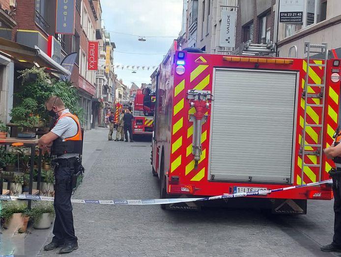 Dakbrand in de Diestsestraat in Leuven.