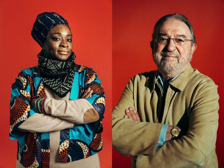 Modi Ntambwe en Herman De Croo. Beeld Illias Teirlinck