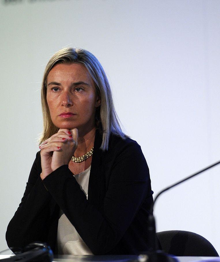 De Italiaanse minister van Buitenlandse Zaken Federica Mogherini. Beeld afp