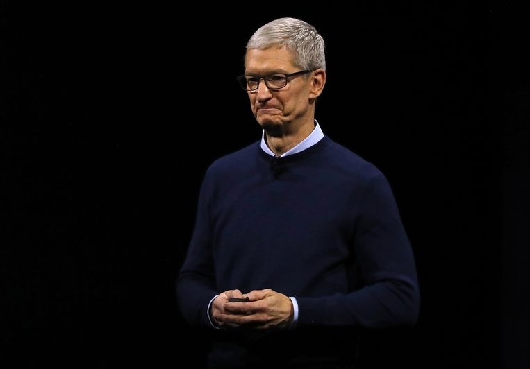 Topman van Apple, Tim Cook.
