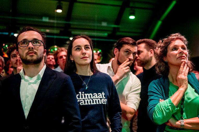 D66 tijdens de uitslagenavond Beeld ANP