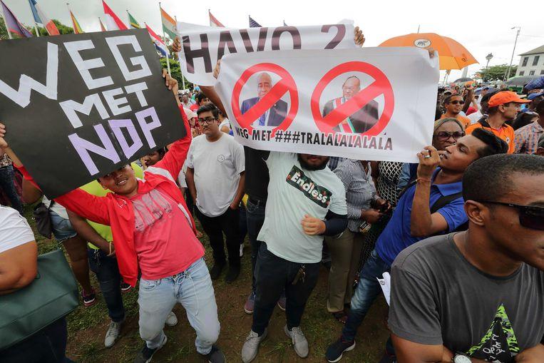 In 2017 eiste Surinamers al het vertrek van Gillmore Hoefdraad. Beeld ANP
