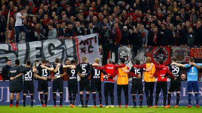 FT buitenland: Fans van Keulen en Leverkusen gaan massaal op de vuist