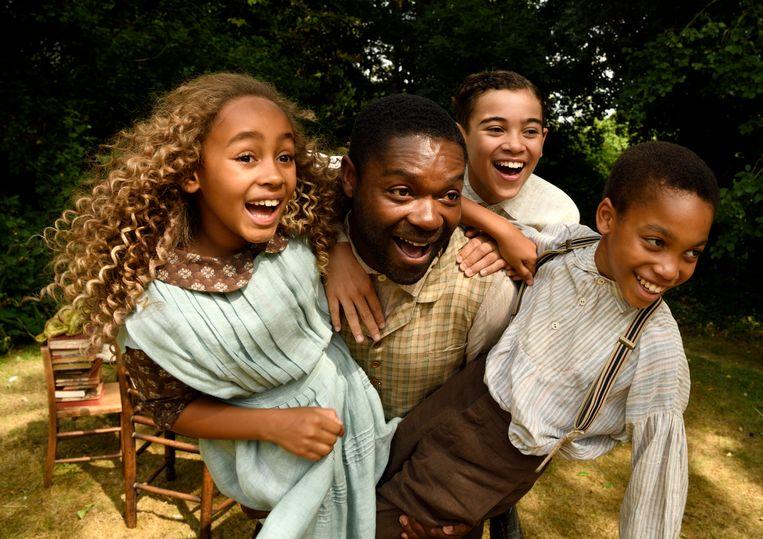 Keira Chansa speelt Alice, David Oyelowo heeft de rol van Jack, Reece Yates is David en Jordan A. Nash speelt Peter (vlnr). Beeld Filmdepot, Alex Bailey