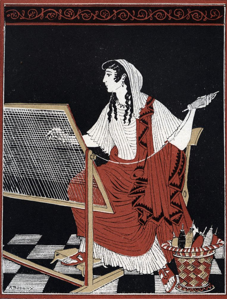 Penelopeia. Illustratie van A. Bonamy in Le retour d'Ulysse van Coissac. Beeld Isadora / Leemage / Hollandse Hoogte