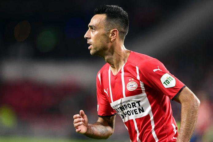 Eran Zahavi speelt zondag met PSV tegen Feyenoord en gaat opnieuw op jacht naar succes.