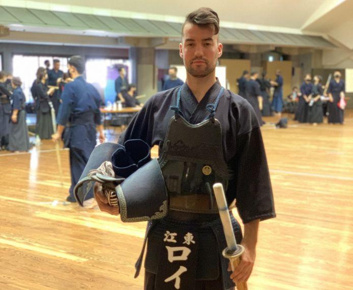 Ivo van Roij onlangs tijdens een toernooi in Tokio, waar hij momenteel woont en werkt.