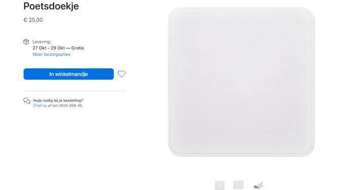 Apple brengt poetsdoekje uit... voor 25 euro