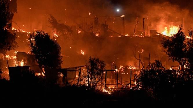 Opnieuw brand uitgebroken in migrantenkamp op Samos