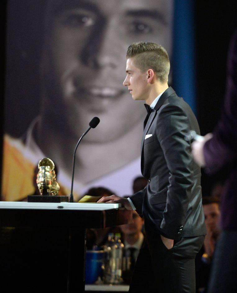 Op z'n 20ste speechte Praet als een grote. Beeld Photo News