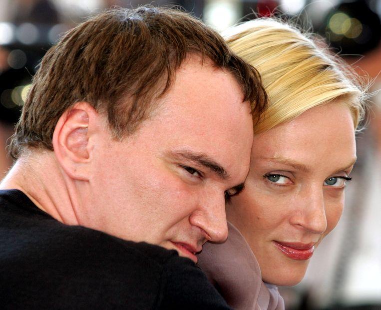 Uma Thurman en Quentin Tarantino in 2004. Beeld REUTERS