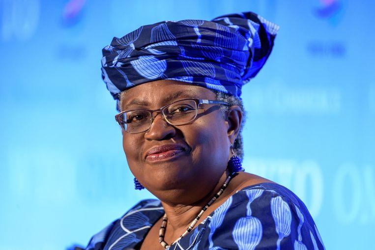 Ngozi Okonjo-Iweala (66) is de enige overgebleven kandidaat voor de hoogste handelsfunctie die er is. Namelijk directeur-generaal van de Wereldhandelsorganisatie (WTO). Beeld AFP