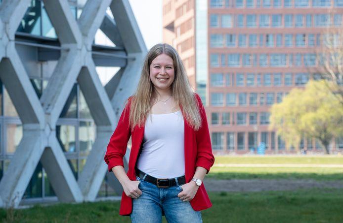 Marieke van Vonderen, studentenminister van LOVE (Landbouw, Omgeving, Voedsel en Energie).