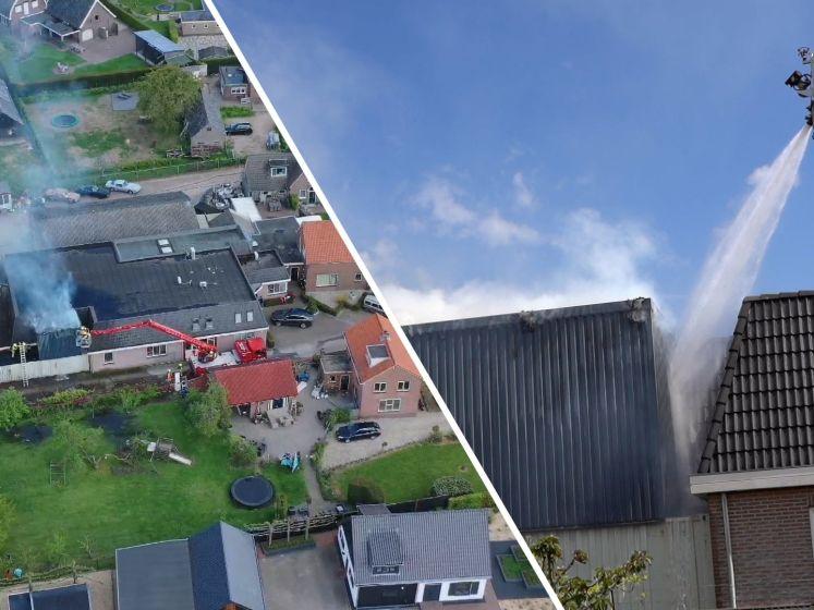 Kans op stofexplosie bij brand in Herveld, woningen ontruimd