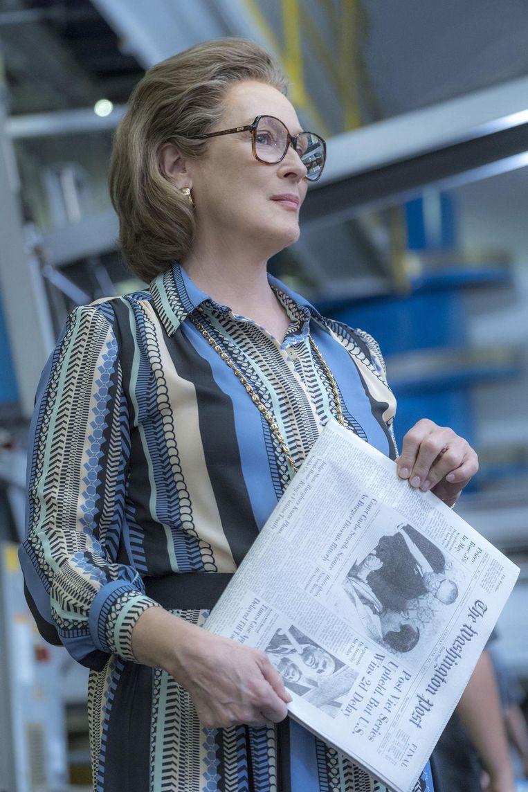 Meryl Streep in The Post. 'Zij kan echt alles spelen, van Margaret Thatcher tot Julia Child, en altijd met een zekere warmte en elegantie.' Beeld Niko Tavernise