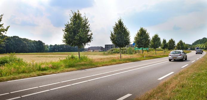 Het braakliggende gebied van Velmolen Oost. Hier komt nieuwbouw.