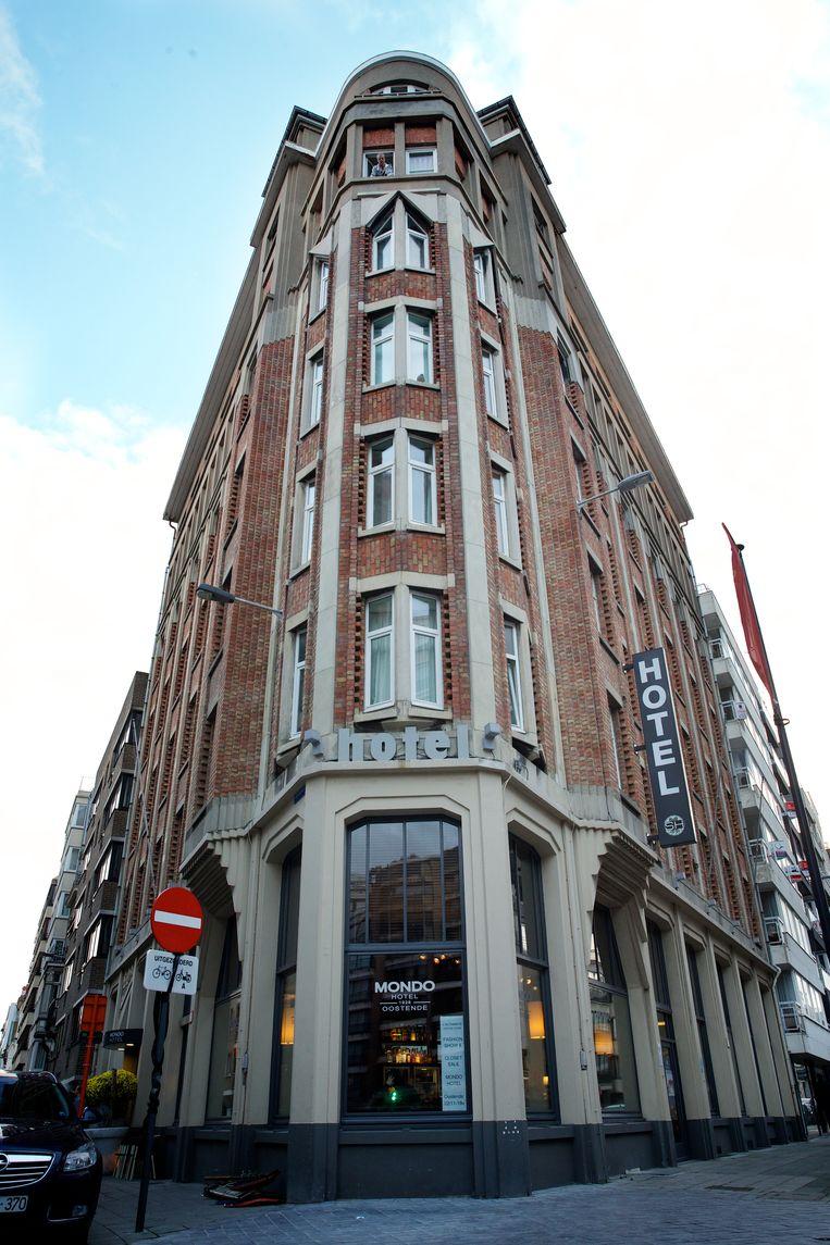 Hotel Mondo in Oostende. Beeld BELGA