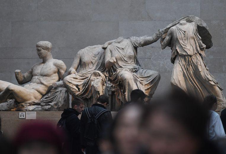De Elgin Marbles in het British Museum in Londen. Herkomst:Athene. Beeld EPA