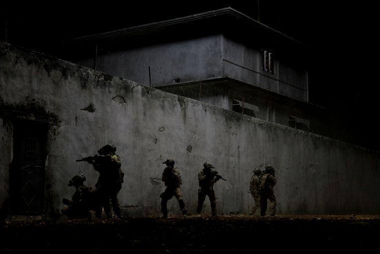Beeld uit de Hollywood-film Zero Dark Thirty over de jacht en aanval op Osama bin Laden. © filmdepot  Beeld AP