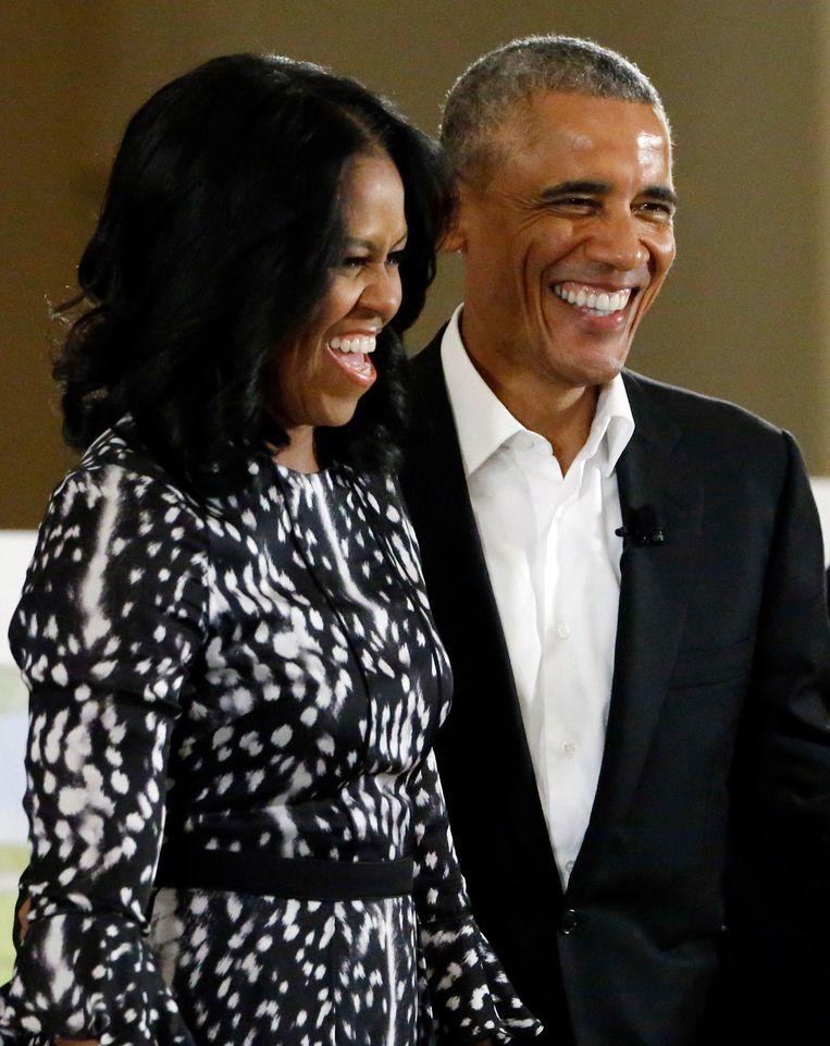 Barack Obama en Michelle Obama Beeld ap