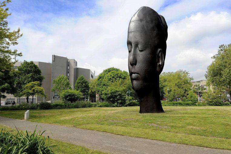 Een kunstwerk van de Spaanse beeldhouwer Jaume Plensa Beeld anp