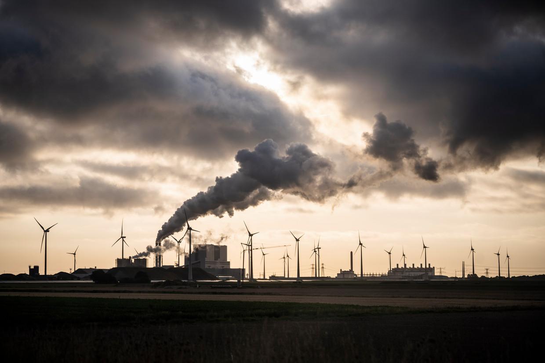 De kolencentrale in de Groningse Eemshaven.