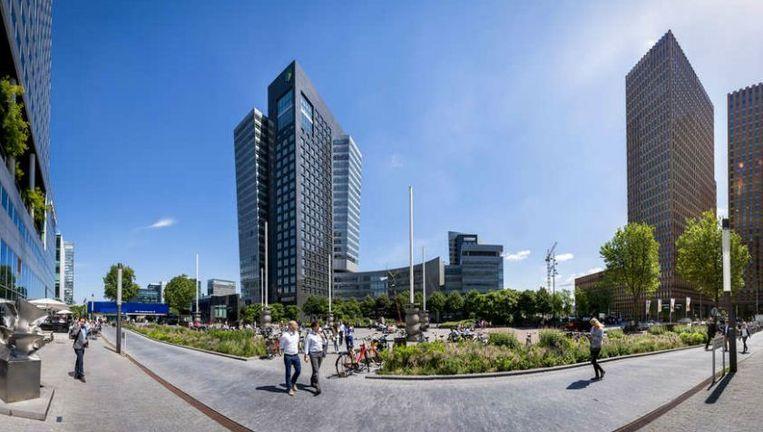 Kantoren aan het Gustav Mahlerplein op de Zuidas, het zakencentrum van Amsterdam. Beeld anp