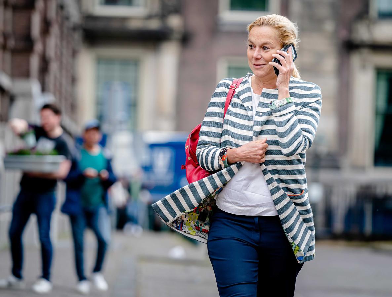 Demissionair minister Sigrid Kaag van Buitenlandse Zaken (D66) komt aan op het Binnenhof voor de wekelijkse ministerraad.